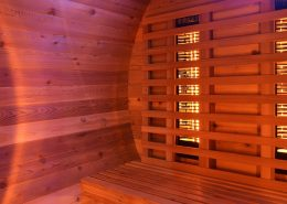 Barrel Sauna Infrarood Knotty Red Cedar