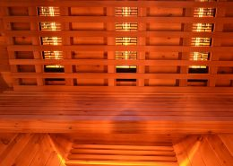 Barrel Sauna Infrarood Knotty Red Cedar