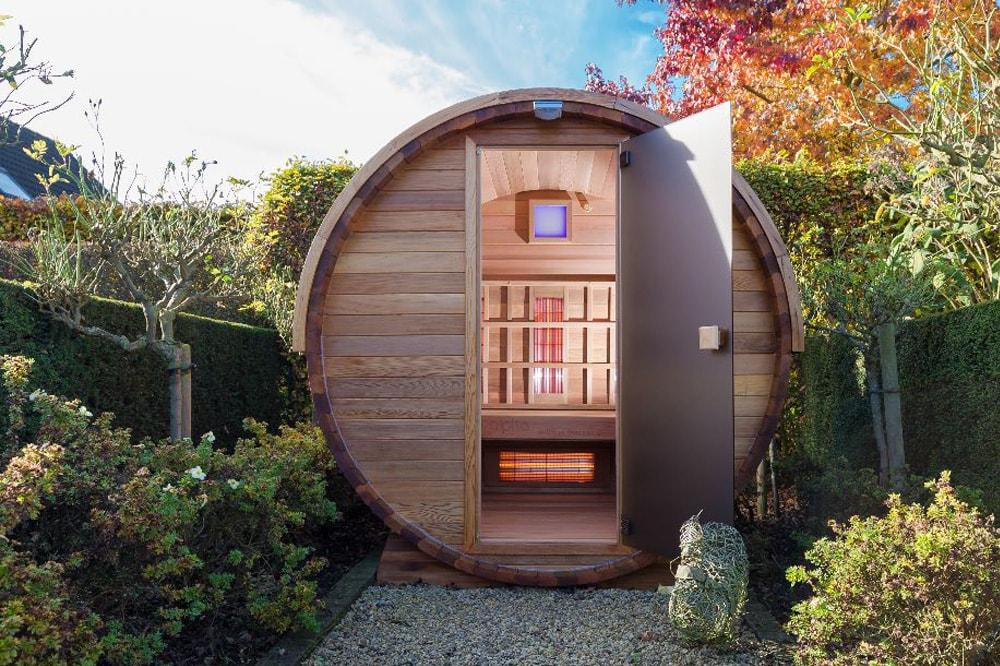 Barrel sauna infrarood