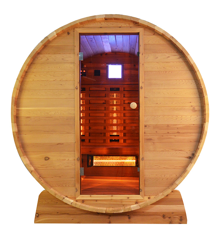 Barrel Sauna Infrarood Knotty - Infra4Health