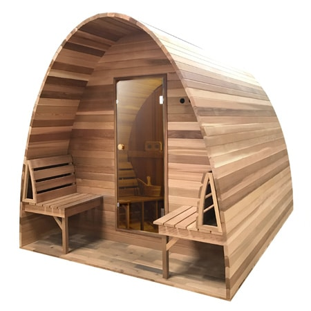 Sauna pod Red Cedar Clear - Infra4Health