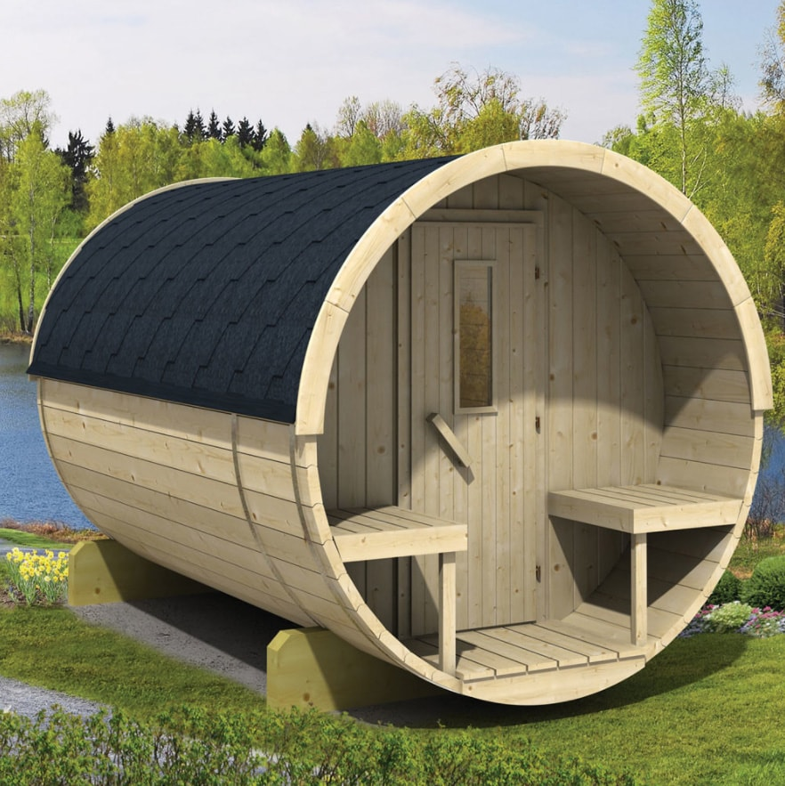 Barrel sauna 300 Thermowood