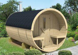Barrel sauna 400 Thermowood