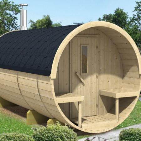 Barrel sauna 400 Vurenhout