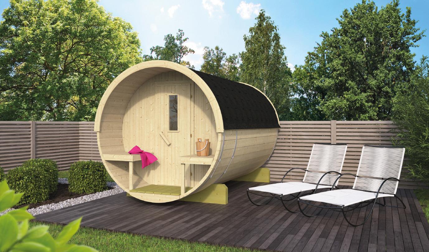 Barrel sauna 250