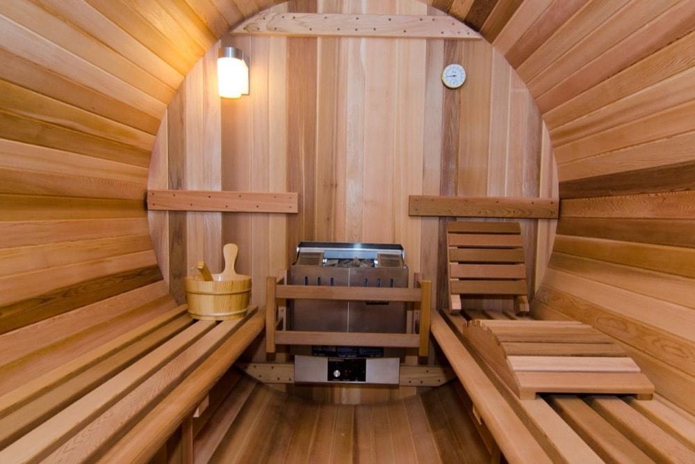barrel sauna grand view barrelsauna. Black Bedroom Furniture Sets. Home Design Ideas