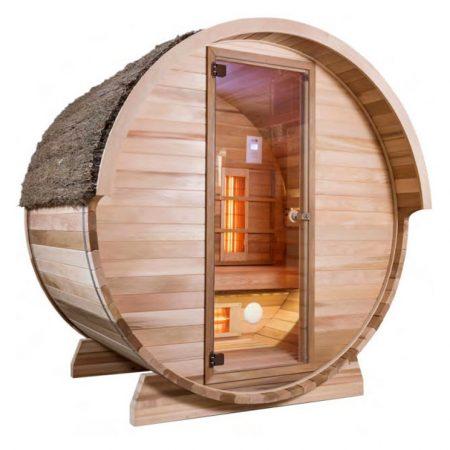 Barrel sauna infrarood - Alpha Wellness