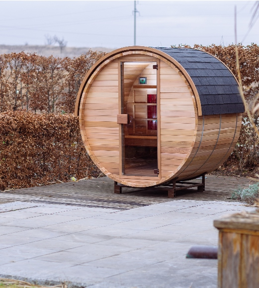 Barrel sauna IR van Alpha Wellness