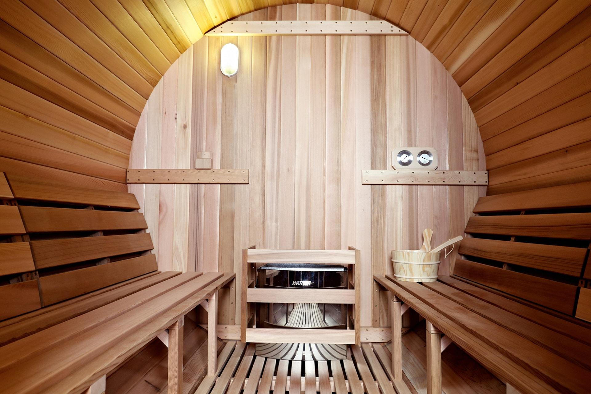 Barrel sauna modellen