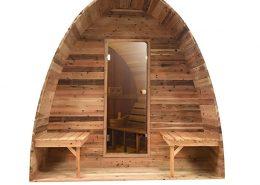 Sauna pod Red Cedar Knotty vooraanzicht - Infra4Health