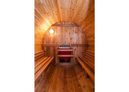 Barrel Sauna Rustic 4 ft. binnenkant