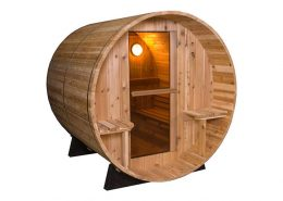 Barrel Sauna Rustic 7+1 ft.