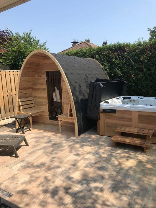 Sauna pod en Jacuzzi